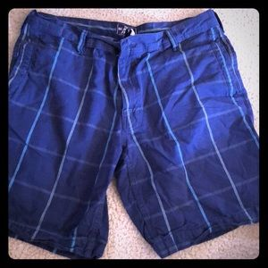 North Face plaid shorts